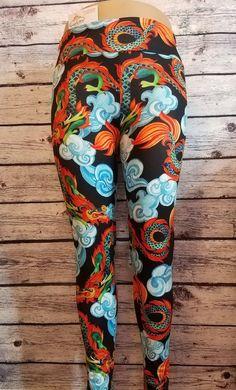 b05efc68ef870 Dragons Kids Pants, Polyester Spandex, Leggings, Fabric, Clothing, Yoga  Pants,