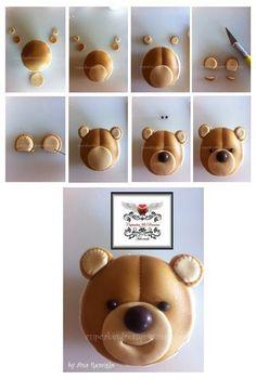 TEDDY BEAR CUPCAKES TUTORIAL.