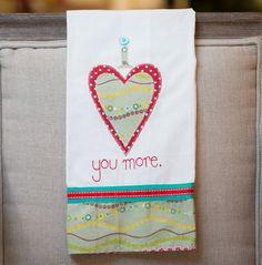 I Love You More Tea Towel