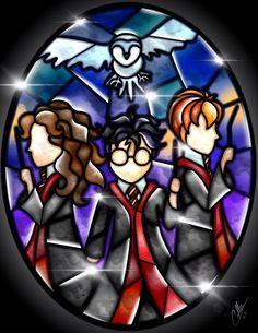 Stained Glass Harry Potter by CallieClara.deviantart.com on @DeviantArt