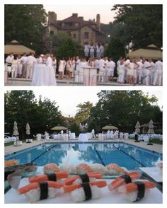 White Party @ Paramount with Sushi on the menu!