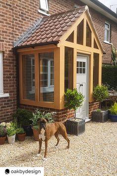 Porch Entrance, Front Door Porch, Front Doors With Windows, Front Porch Design, Porch Roof, Side Porch, House Front Door, House With Porch, Porch Extension