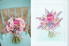 #bridalpinterest elige un bello bouquet en tonalidades rosa