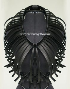 Moulded Leather Neck Piece by Cezanne Agatha Gramson
