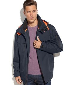 London Fog Easton Hooded 3-in-1 Systems Jacket