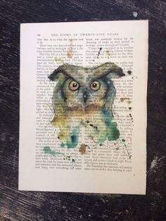 Tweet Hoot #1 by Mel on Etsy