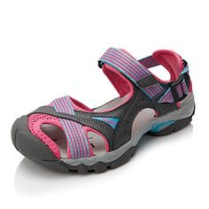Clorts Womens Lightweight Athletic Sandal Outdoor Seaside Water Sneaker Rose SD202C US9 ** For more information, visit image link.