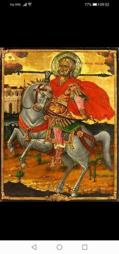Byzantine Icons, Byzantine Art, Religious Icons, Religious Art, Russian Icons, Religious Paintings, Saint George, Orthodox Icons, Sacred Art