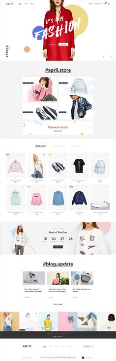 April is an modern design premium #PSD template for awesome #eCommerce website with 36 organized PSD files download now➩ https://themeforest.net/item/april-ecommerce-psd-template/19564386?ref=Datasata