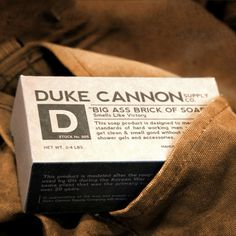 "Duke Cannon ""Big Ass Brick of Soap"" @ L.V. Harkness $8.00 #fathersday #lvharkness #dukecannon #gift"