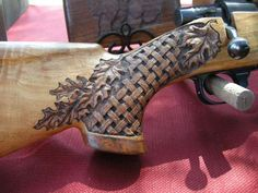 wildlife carving on gun stocks | Lance Larson – Western Wood Carving Artist