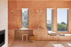ply wall desk and seating