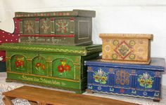 german painted trunks  | amazing german painted trunks love these