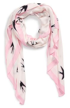 kate spade new york 'winter swallow' scarf available at #Nordstrom