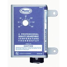 Master Flow Manually Adjustable Thermostat For Power Vent throughout proportions 1000 X 1000 Temperature Controlled Switch Attic Fan - If you've got a Solar Powered Attic Fan, Solar Attic Fan, Gable Vents, Roof Vents, Attic Vents, Whole House Fan, Wire Installation, Installation Instructions, Flow