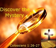 Good Morning from Trinity, TX  Today is Tuesday June 2, 2015  Day 153 on the 2015 Journey  Make It A Great Day, Everyday!  Discover the Mystery  Today's Scripture:Colossians 1:26-27 https://www.biblegateway.com/passage/?search=Colossians+1%3A26-27&version=NKJV ... Christ in you, the hope of glory. Inspirational Song https://youtu.be/f3UMu35iRww