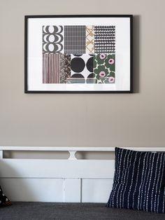 DIY Marimekko taulu - Pilviraitti - sisustusblogi Textile Patterns, Floral Patterns, Haida Art, African Textiles, Japanese Patterns, Illuminated Letters, Aboriginal Art, Marimekko, Textile Artists