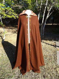 Handcrafted Medieval Embroidered Hooded by LintMonsterCreations