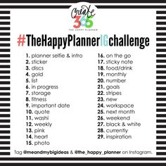 #TheHappyPlannerIGchallenge begins February 1st! CLICK for info & a free printable to include in your Happy Planner™ | me & my BIG ideas