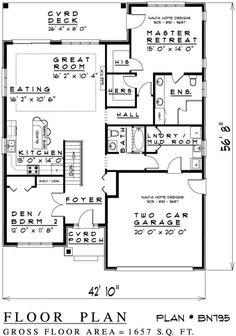 Bungalow house plan charming brick bungalow 1500 for Nauta home designs