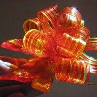 Pulled sugar ribbon makes a beautiful cake topper