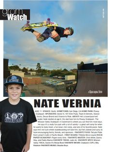 Issue 1, GromWatch: Nate Vernia