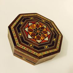 Unique Handmade Vintage Mother of Pearl Mosaic Inlaid Wood Jewelry Box Design C #Jewelkeepers