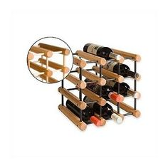 JK Adams Ash Wood 40Bottle Wine Rack Natural * Want additional info? Click on the image.