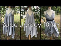 Découvrez comment coudre facilement une robe en jersey. La taille du carré correspond à la longueur de la robe plus vous l'augmentez plus la robe sera longue...