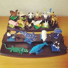"12 mentions J'aime, 2 commentaires - Junko S (@jankos1201) sur Instagram: ""Nanoblock zoo & aquarium #nanoblock #zoo #aquarium #horse #sheep #panda #meerkat #pig #lion #duck…"""