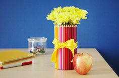 See 11 fabulous, affordable vases for fresh and faux flowers, love the tea tins-would fit perfectly in kitchen window sill