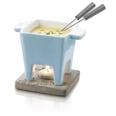Boska Holland Life Collection Ceramic with Concrete Base Tapas Fondue Set, Blue by Boska USA. $32.61. Small portioned tapas pot provides individual cheese portions for all types of snacks; tea light keeps cheese melted. Modern design with natural materials; ceramic tapas pot and concrete base. Tapas fondue set includes: blue ceramic pot, concrete base, 2 fondue forks, tea light. Part of the Boska Holland Life Collection of products. Dishwasher safe. At Boska Holland we've bee...