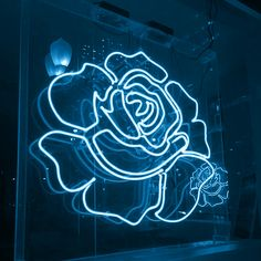not my photo just my blue source  #blue #aesthetic #neon #flower