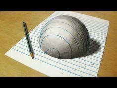 Zeichnung 3D Loch für Kinder - Wie zeichne 3D Circular Hole - Trick Kunst für Kinder - YouTube