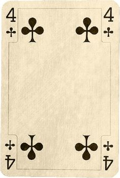4♣ Antique Clubs Playing Cards by marceeduggar, via Flickr ~ free