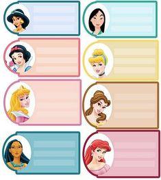 A muchas de nuestras hijas les encantan las princesas de Disney por eso hoy posteamos unas etiquetas para poner el nombre en los regalos adornadas con las caras de estas encantadoras princesas.