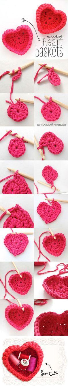 Tutorial de canastito en forma de corazon