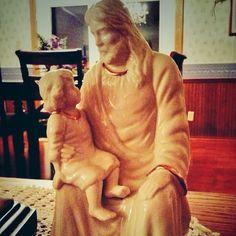 Jesus...Full-time Savior. Part-time Ventriloquist. (mildly awkward Jesus figurine) #kidmin