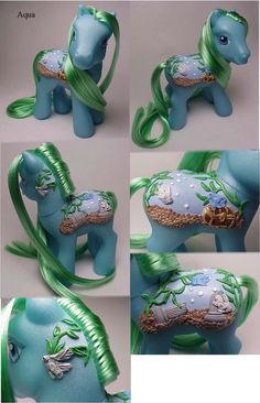 Aqua custom pony, by Woosie @ DeviantArt
