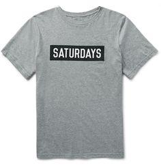 Saturdays NYC - Slim-Fit Printed Cotton-Jersey T-Shirt