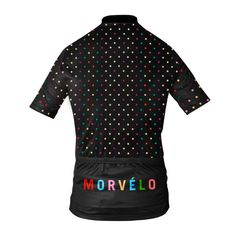 nice womens cycling jersey with colourfull dots
