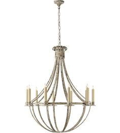 Visual Comfort Suzanne Kasler Seymor 10 Light Chandelier in Belgian White  SK5012BW #visualcomfort #lightingnewyork #lighting