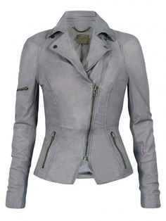 I adore this leather and knit biker jacket from the UK.