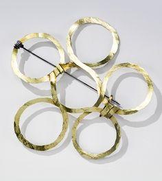 Brooch | Alexander Calder.  Brass and steel wire.  ca. 1936 | 62'500$ ~ sold (Nov '14)