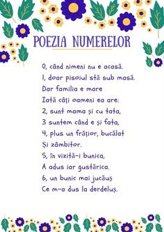 "#Parenting #educație #copii #descarcă #poezie #numarat #activitate Descarcă livrabilul pentru activitate Poezia Numerelor si activitatea Numara cu buline 1. Ne jucăm și numărăm cu bulinele 2. Citim ""Poezia numerelor"" 3. Imprimăm PDF-ul ""Numără cu buline"" Motor Skills Activities, Teaching Activities, Preschool Activities, Solar System For Kids, Kids Poems, Finishing School, Teacher Supplies, Preschool Math, School Humor"