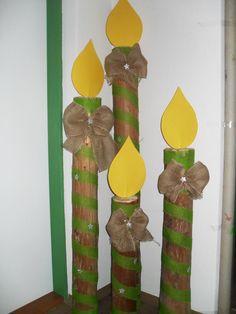 adventní svíce z tubusu