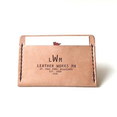 3 Pocket Card Wallet by leatherworks minnesota
