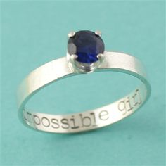 "Doctor Who Engagement Ring ""My Impossible Girl"" - Spiffing Jewelry"