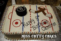 Hockey Rink Cake | Flickr - Photo Sharing!