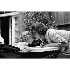 Jackie and Caroline Kennedy in Georgetown, 1959